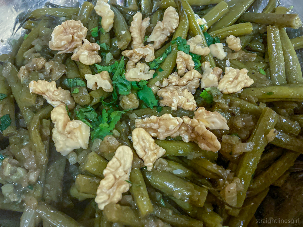 Georgian Green Beans with Caramelised Onion from the book In Praise of Veg