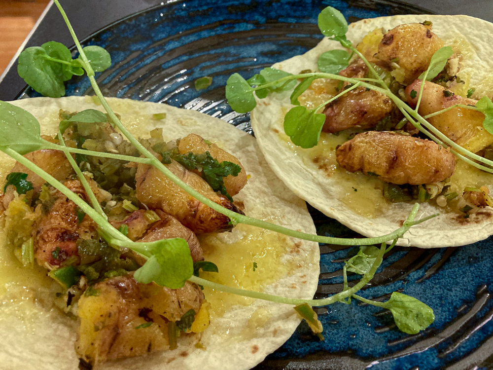 Salt-baked Yam Tacos from the book In Praise of Veg
