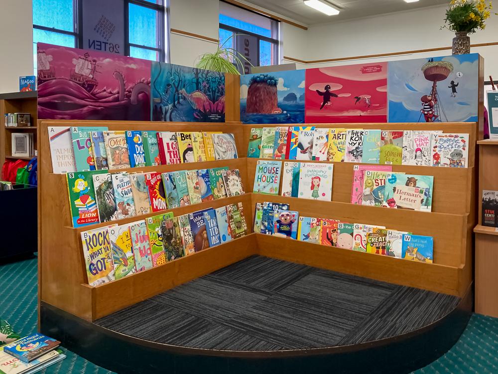 Picture book section of the Smithton Library